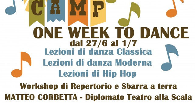 Summer Camp – ONE WEEK TO DANCE
